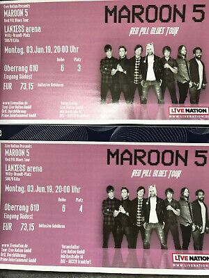 Maroon 5 Tickets für Red Pill Blues Tour am 3.6.19 in Köln. 2x Sitzplatz