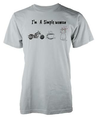 I/'M A SIMPLE WOMAN T SHIRT COFFEE PICTURES SUN LOVING LIFE FASHION GIFT PRESENT