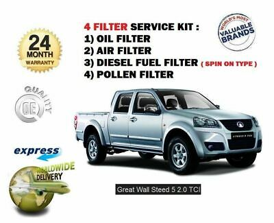 Pour Great Wall Steed 5 2.0 Dt Pickup 2012- > Huile Carburant Air Pollen 4