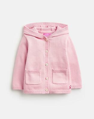Joules 124944 Character Hooded Cardigan 9 12 in ROSE PINK Size 9min12m