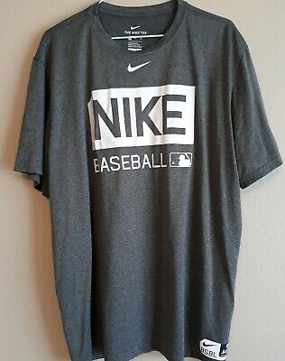 5dab8a8e Nike Mens XXL Tee Shirt Short Sleeve Athletic Sport Dri-Fit Baseball BSBL  Gray