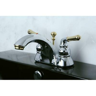 Two-tone Chrome and Brass Bathroom Faucet Polished