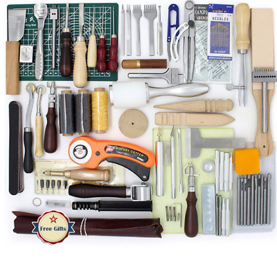 High Quality Tools for Leather Craft Sewing DIY Hand Stitching, Leather Tools