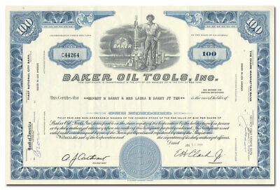 Baker Oil Tools, Inc. Stock Certificate