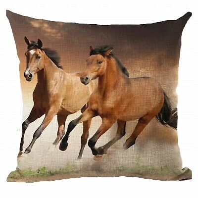 Cushion Pillow Horse Brown Horses Farmhouse Vintage French Country Home Decor
