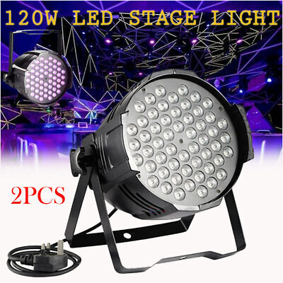 2 X 120W LED Stage Light DJ Disco Party KTV Club Bar Musical Show 54 DMX RGB AU