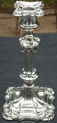 Antique Early Elkington Candlestick - 1853 - Silver Plated