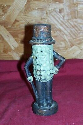 Old Planters Mr. Peanut Cast Iron Piggy Bank Coin Small Vintage Food Advertising