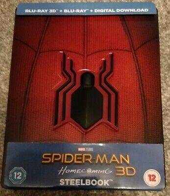 Spider-Man: Homecoming 3D Steelbook +Comic includes Blu-Ray Marvel MCU Iron Man