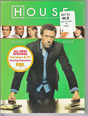 House - 4th Fourth Season 4 Four (DVD, 2008, 4-Disc Set)  ~ FACTORY SEALED ~ NEW