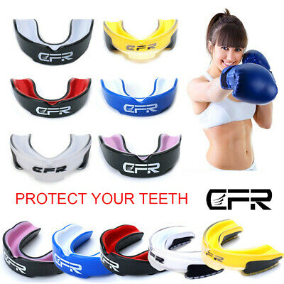 CFR Gel Gum Shield Mouth Guard Kids Junior MMA Boxing Rugby Teeth Protection BQ