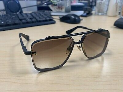 a211281f685be DITA MACH SIX Sunglasses DTS 121 Gold Brushed Frame with Brown ...