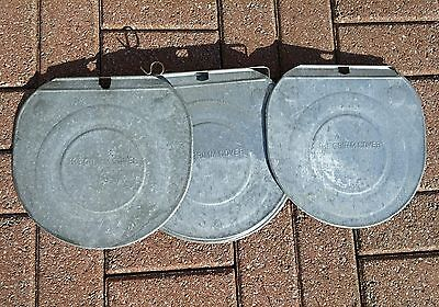 12 Very Nice 'GRIMM' GALVANIZED Sap Bucket COVERS LIDS Maple Syrup ~ NEED MORE?