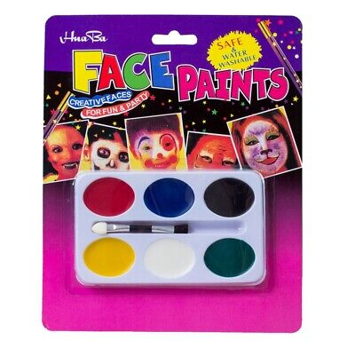 1X(Painting Palette 6 Colors Face Body Makeup for Halloween Party R2X9)