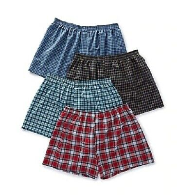"Fruit of the Loom® BIG & TALL MEN'S Woven Boxers  4/8-Pack 3XL   ""Tartan Plaids"""