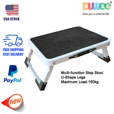 Prime Rubbermaid Rm Pl1W Folding 1 Step Plastic Stool 300 Pound Pabps2019 Chair Design Images Pabps2019Com