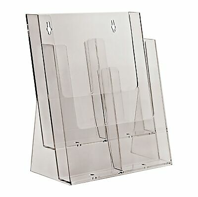Taymar 2C230 Two Tier Display Stand for A4/DL Leaflets and Brochures - Clear ...