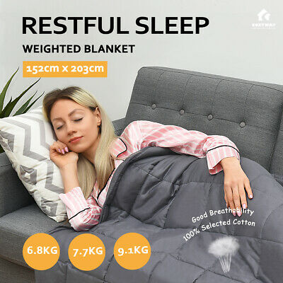 Costway Weighted Blanket Cotton Deep Sleep Stress Relief Heavy Gravity Adults