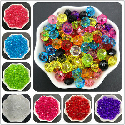 6/8/10/12mm Round Acrylic Spacer Beads Faceted Crystar Beads For Jewelry Making