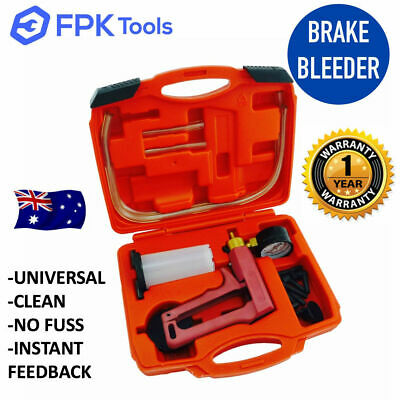 Brake Bleeder Kit & Vacuum Pressure Tester Pump - Hand Held