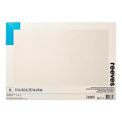 Reeves Water-Colour Paint Board, A3 - Pack of 5