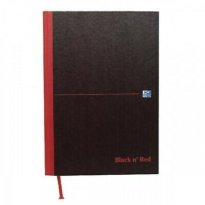 Black n Red Book Casebound 90gsm Ruled Indexed A-Z 192 Pages A4 Ref C67922 [P...