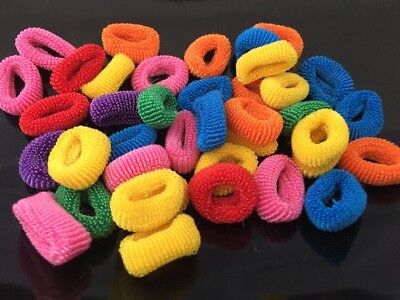 Pack Of 50 Assorted Colours Girls Baby Toddler Kids Elastic Hair Bands Bobbles.
