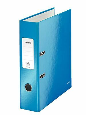 Leitz Lever Arch File, Pack of 10, Metallic Blue, A4, 80mm Spine, WOW Range, ...