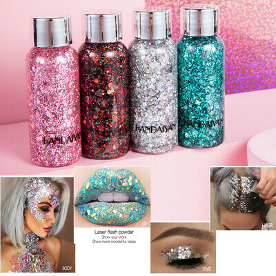 Face Body Glitter Paste Cream Highlighter Gel Hair Paint Cosmetic MakeupTool fa