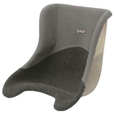 OMP 36cm Wide Universal Grey Carpet Covered Lightweight Fibreglass Kart Seat
