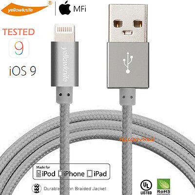3.3ft. Braided [Apple MFi Certified] Lightning to USB Cable Charging Data Sync
