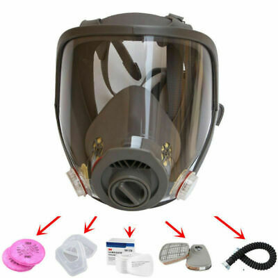 USA Stock Full Face Facepiece Respirator Gas Mask For 6800 Dust Paint Spraying