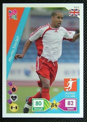 Martin Sinclair 151* Adrenalyn XL Panini London Olympic 2012 Card