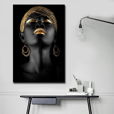 Canvas Prints Painting Picture Photo Home Decor Wall Art African Woman Frameless