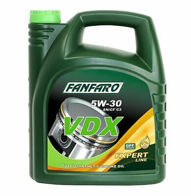 FANFARO VDX 5L Fully Synthetic 5w30 Engine Oil Low Saps C3 API SN/CF, Dexos2.