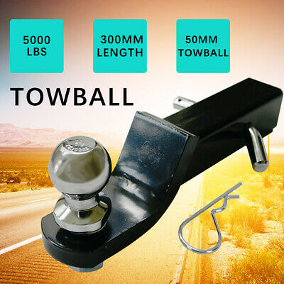 Towbar Tongue Tow Ball Mount Hitch 50mm Adjustable Drop Trailer Black FOR MOST