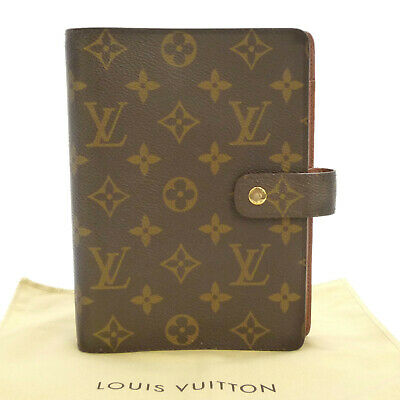 Auth LOUIS VUITTON Agenda MM Day Planner Cover Monogram Canvas R20004 #S212081