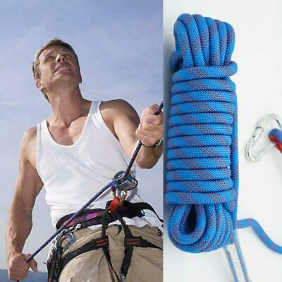 10/20/30M Climbing Rope Safety Rescue Escape Rappelling Hiking Rope Camping AU
