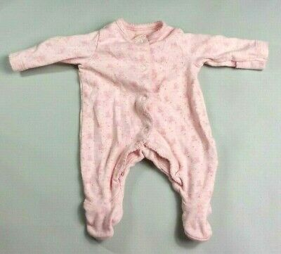 MOTHERCARE Baby GIRLS SLEEPSUIT Newborn First Size up to 7.5 lbs Pink Teddybears