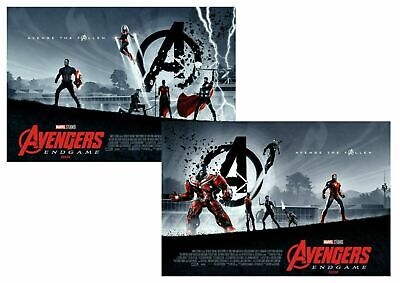 BOTH Marvel Avengers Endgame ODEON Poster Matt Ferguson, Marvel Studios, A3