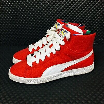 official photos 4aa84 ec38b PUMA X DEE & Ricky High Top (Men Size 10) Designer Sneakers Red Felt  Trainers