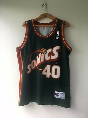d6ebd0807ff Very Rare Seattle Supersonics Sonics Kemp Payton Jersey Shirt Champion Size  L