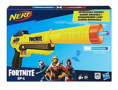 NERF Fortnite Toy Gun Elite Blaster Pistol 6 Darts Boys Fun Outdoor Activity NEW