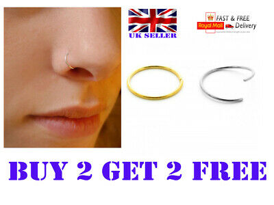 Nose Cuff Faux Clip On Silver,Gold Nose Hoop,Fake Nose- Ring No Piercing Needed
