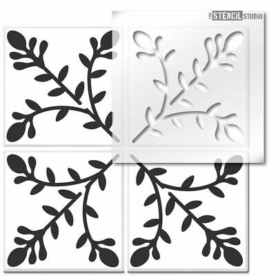 Meadow Trail Reusable Tile STENCIL. Floor, wall for painting. Decorating 10827