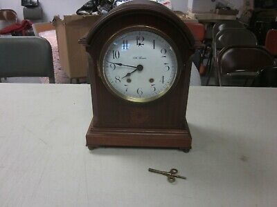 Vintage Seth Thomas  Mantel Clock WORKS/REPAIR PORCELAIN FACE