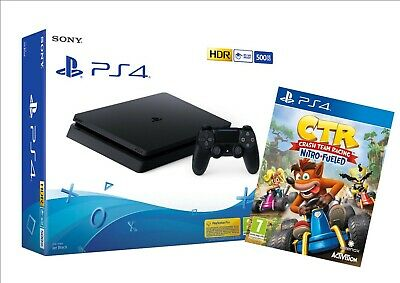 Sony Console Playstation 4 Da 500Gb Ps4 Chassis Slim F + Gioco Crash Team Racing