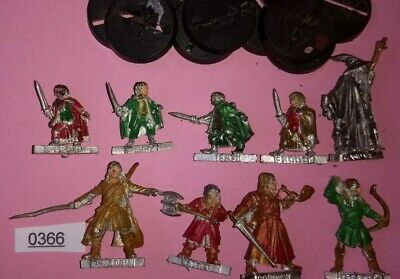 9x Fellowship of the Ring - METAL Lord of the Rings Warhammer Games Workshop