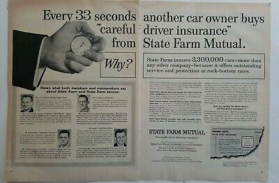 Collectibles 1950-59 1955 State Farm Mutual Insurance Every 33 Seconds Another Car Owner Buys Ad