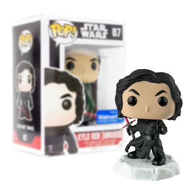 New Star Wars Kylo Ren Unmasked Pop Vinyl Bobble-Head Figure #87 Funko Official